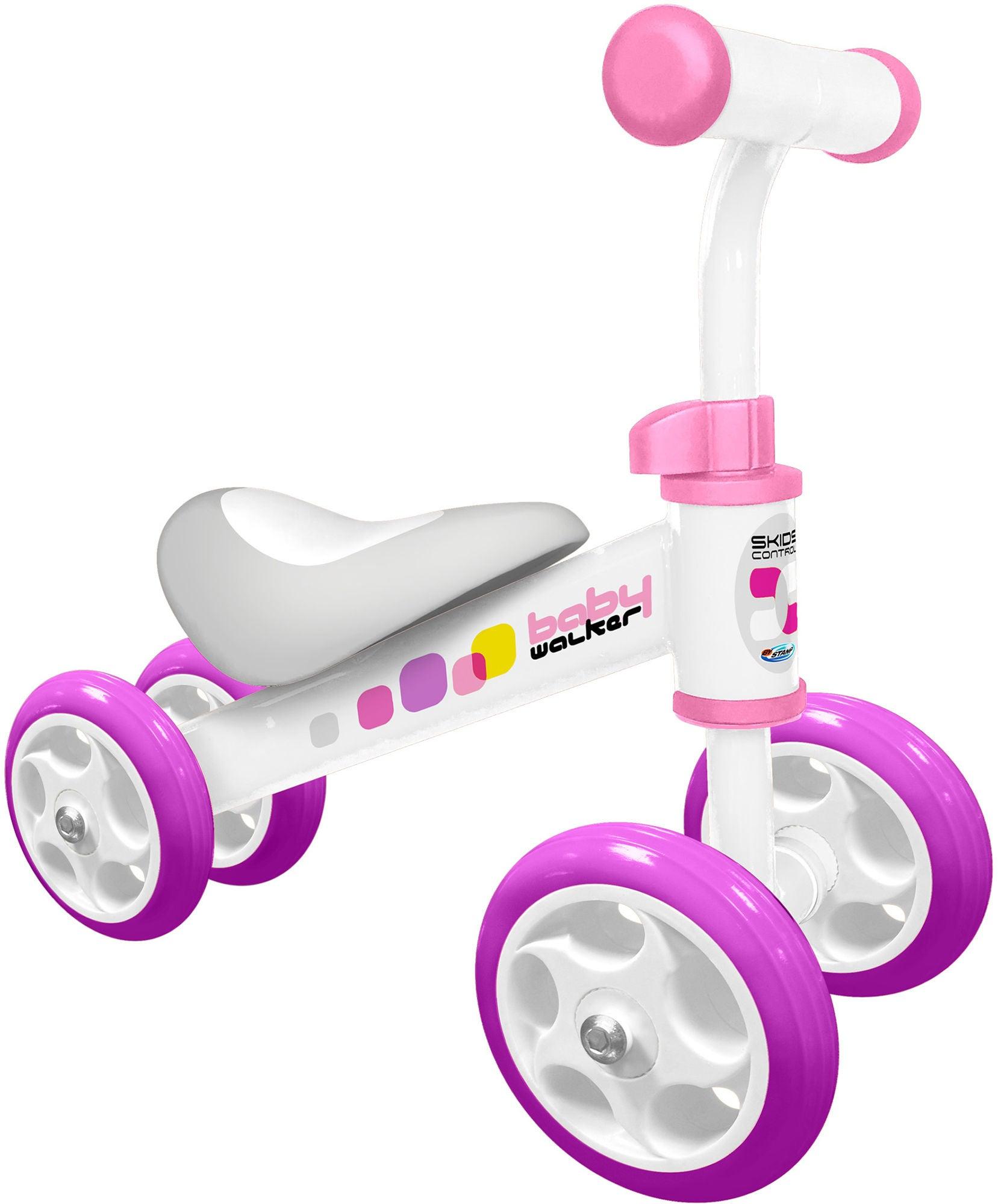Stamp Springcykel Fyrhjuling, Rosa