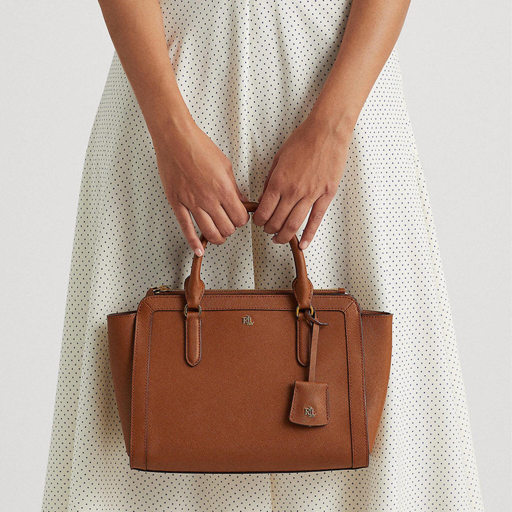 Crosshatch Leather Medium Brooke Satchel