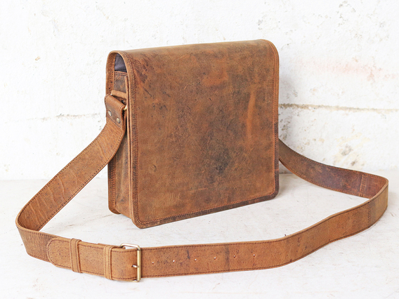 iPad and Tablet Leather Messenger Bag Brown 11 Inch