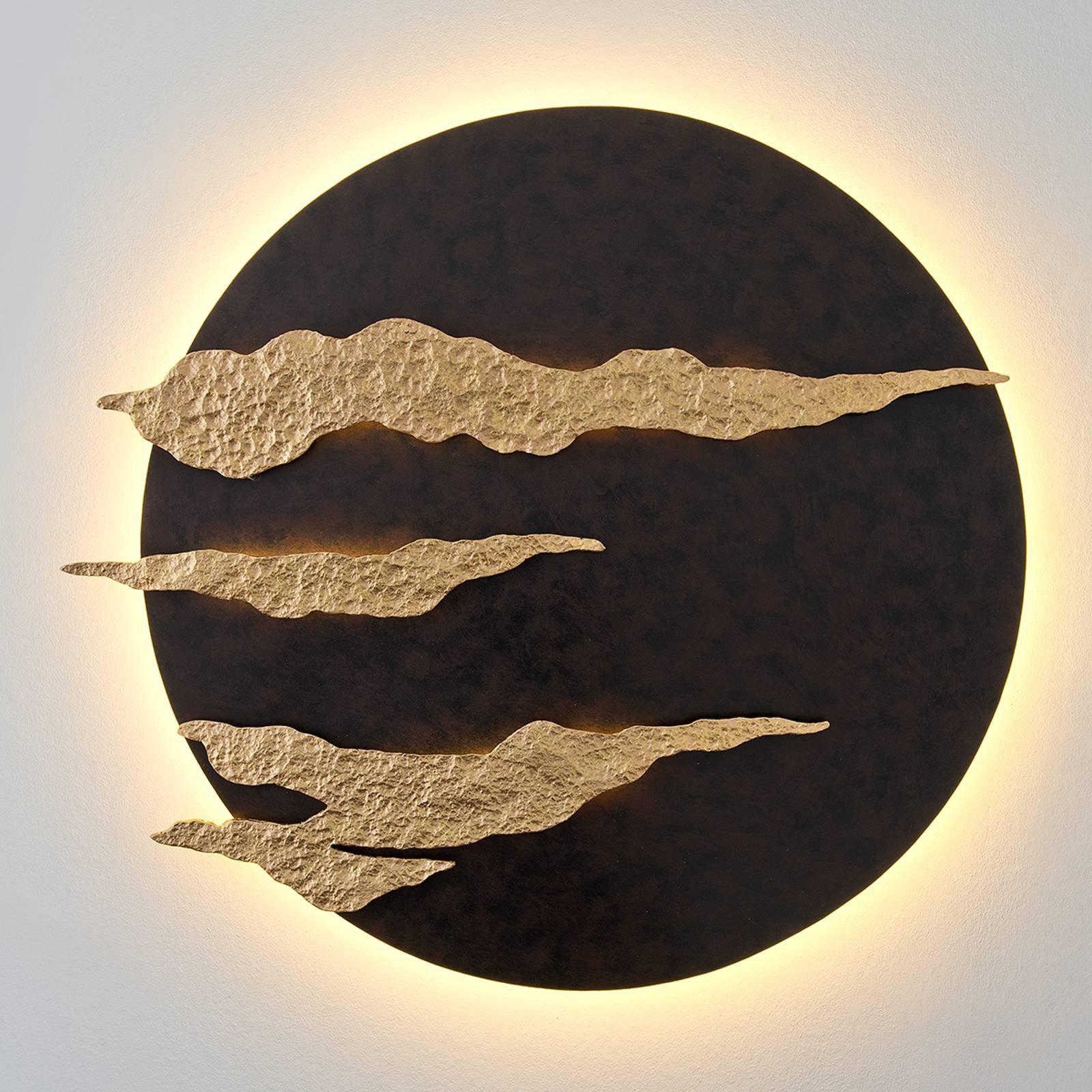 Firmamento - svart-gyllen LED vegglampe