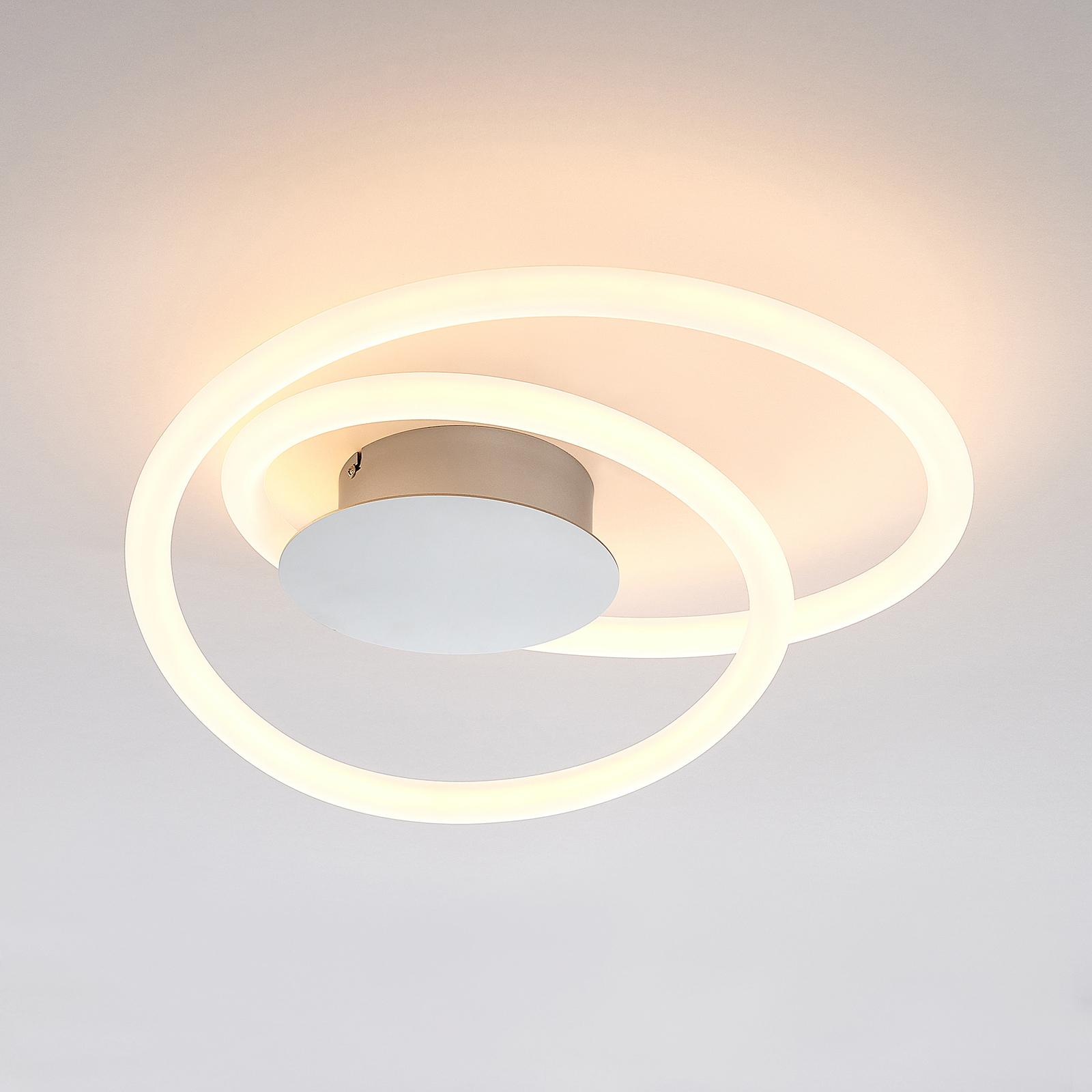Lucande Lumka -LED-kattovalo, Switch-Dim