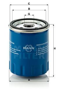 Öljynsuodatin MANN-FILTER W 712/15