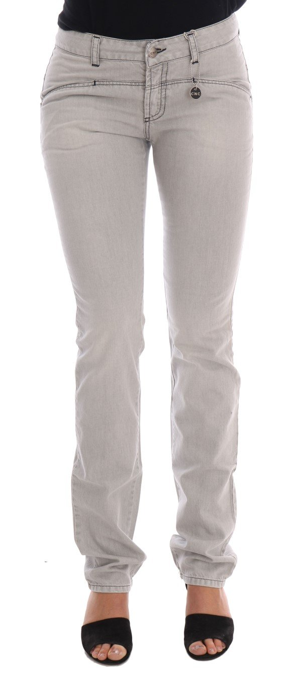 Costume National Women's Wash Cotton Slim Jeans Gray SIG30122 - W26