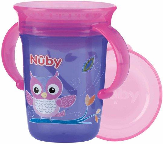 Nûby Drikkeglass med Håndtak, Lilla