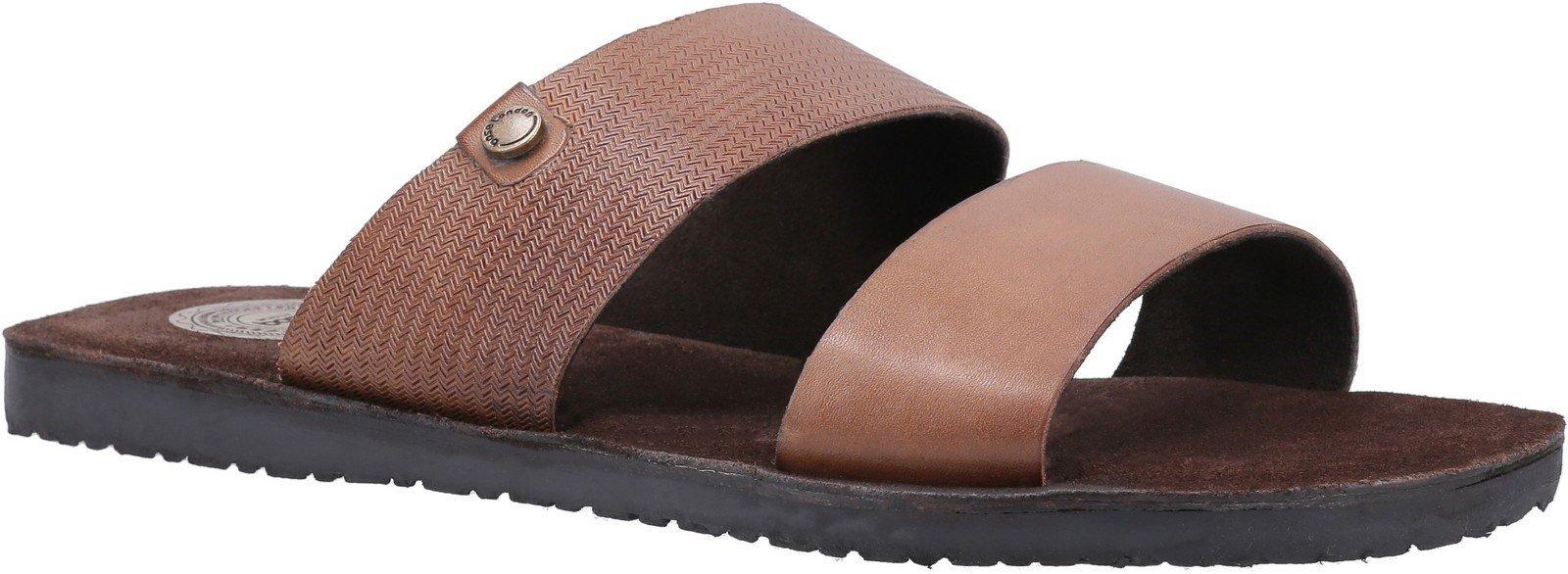 Base London Men's Julius Waxy Slip On Sandal Various Colours 30442 - Tan 6