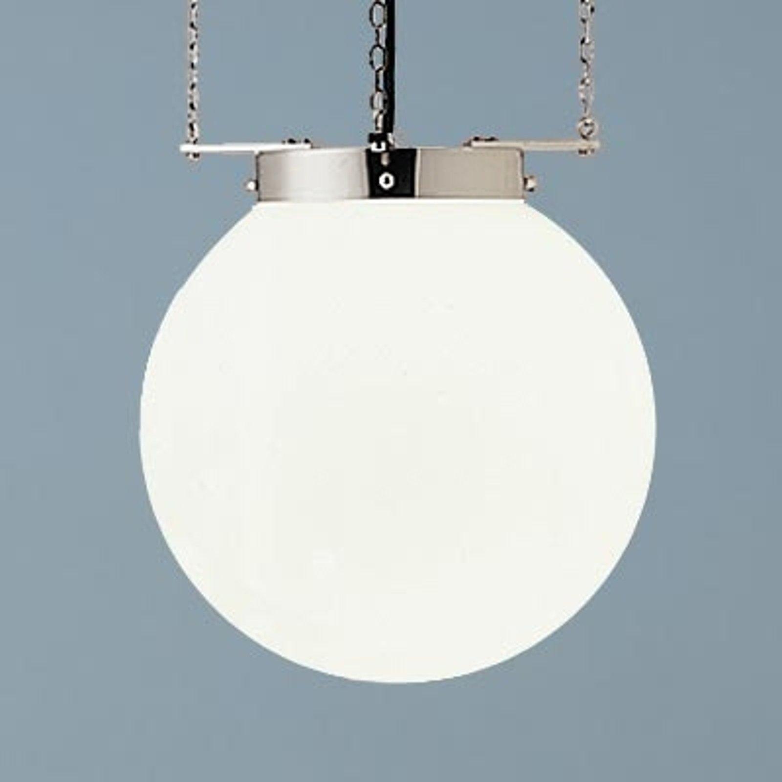 Hengelampe i Bauhaus-stil nikkel 35 cm
