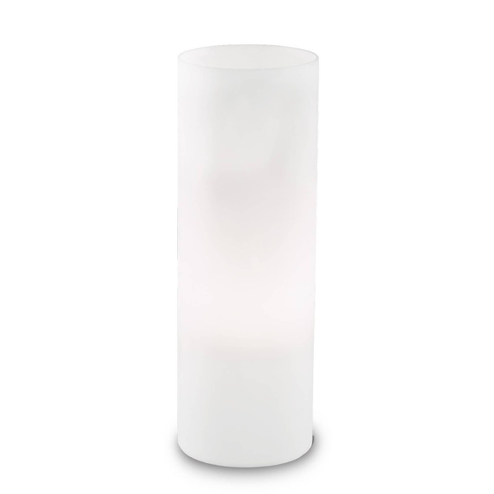 Pöytävalaisin Edo valkoista lasia, korkeus 35 cm