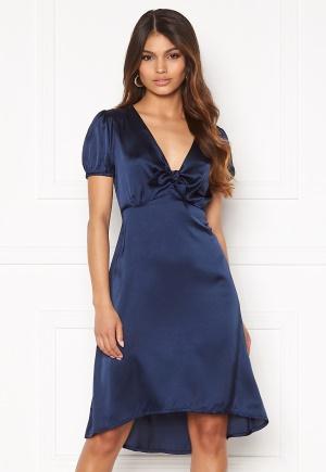 Happy Holly Therese Shiny Dress Navy 38