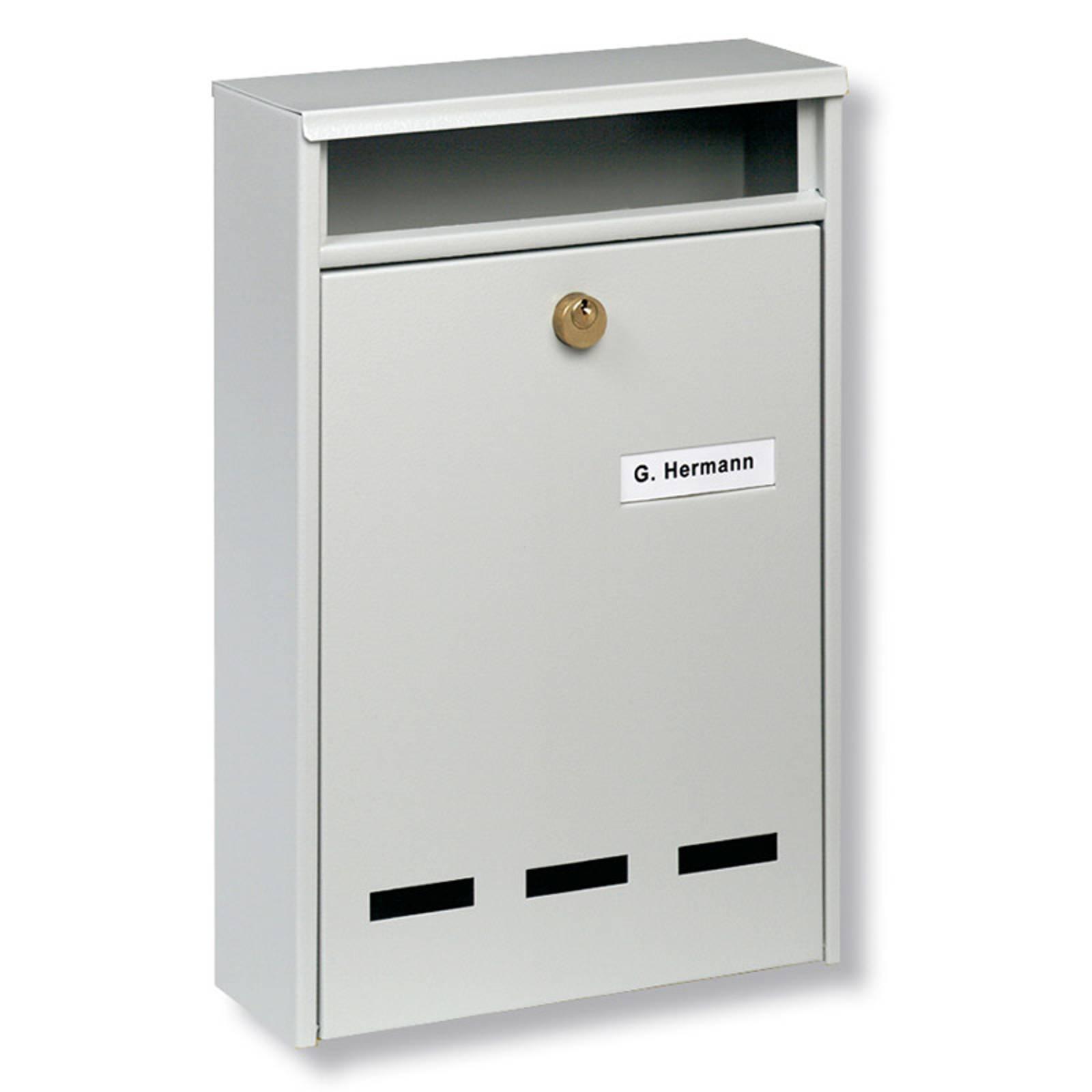 B5-standardin ryhmäpostilaatikko Wismar, valkoinen