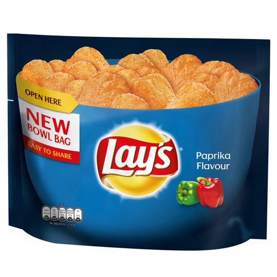 "Chips Paprika ""Bowl-Bag"" 175g - 25% rabatt"