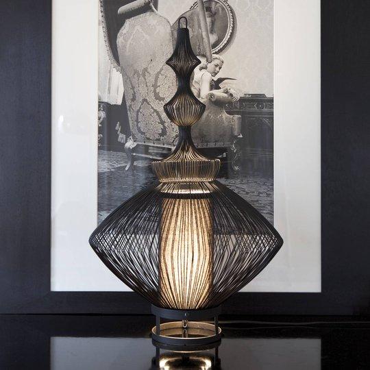 Forestier Opium bordlampe, svart