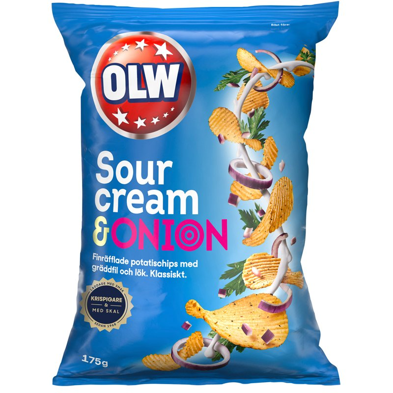 Chips Sourcream & Onion - 16% rabatt