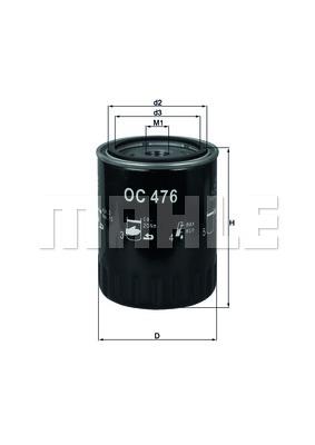 Öljynsuodatin KNECHT OC 476