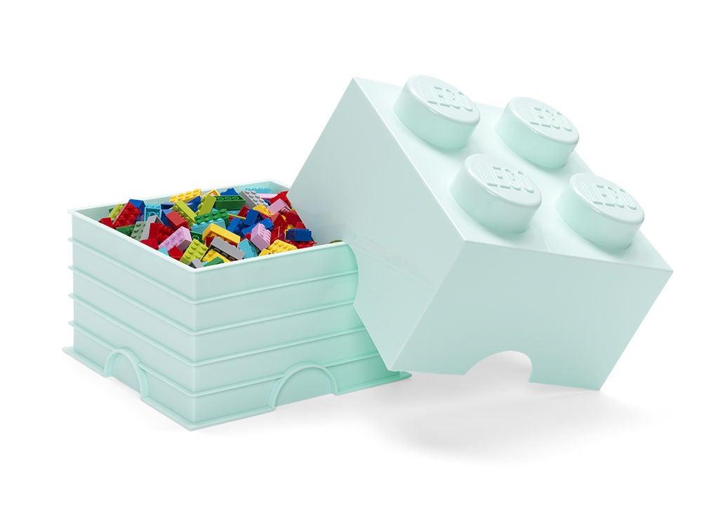 LEGO Säilytyslaatikko 4 Design Collection, Turkoosi