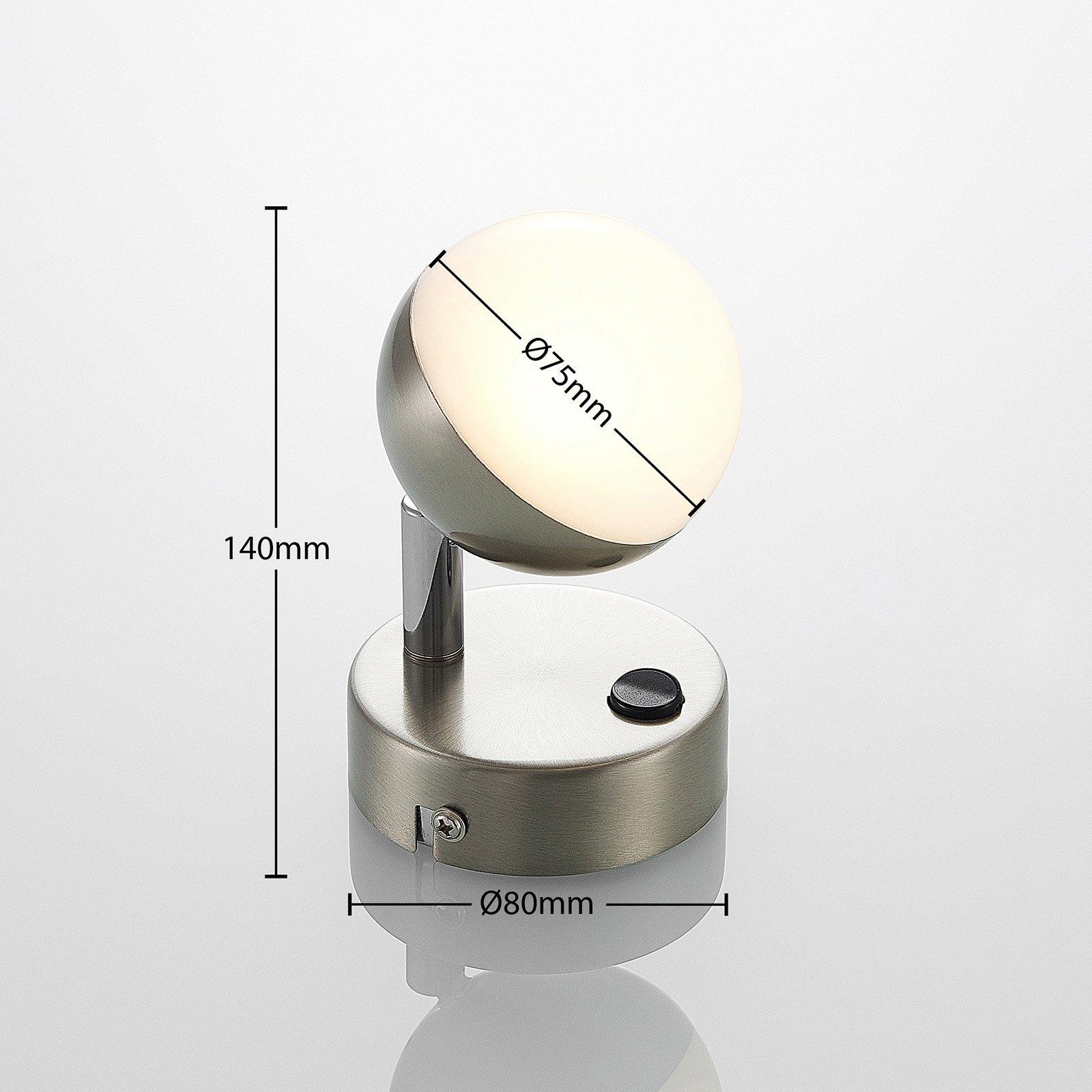 Lindby Lientje LED-vegglampe av stål