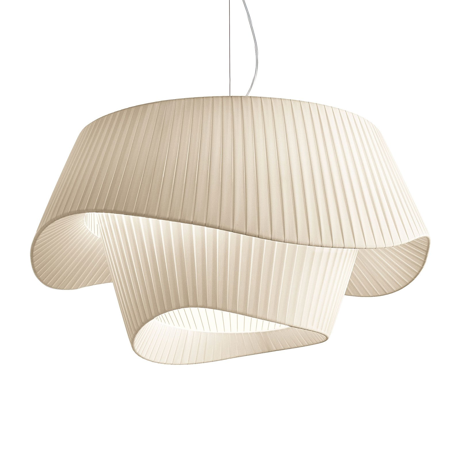 Modo Luce Cocó tekstil-hengelampe Ø 80 cm beige