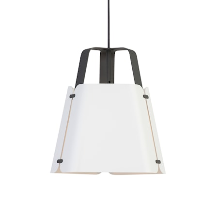 Fold Pendel Antracit/Vitstruktur 34 cm