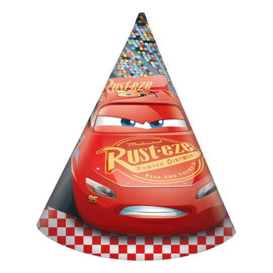 Partyhattar Bilar/Cars 3 - 6-pack
