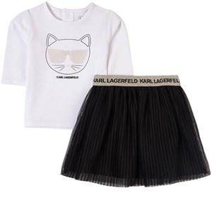 Karl Lagerfeld Kids Choupette Kjolset Vitt 12 mån