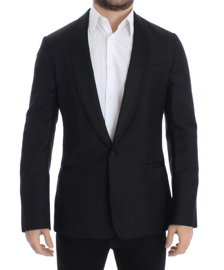 Dolce & Gabbana Men's wool slim MARTINI Blazer Black SIG12216 - IT48 | M
