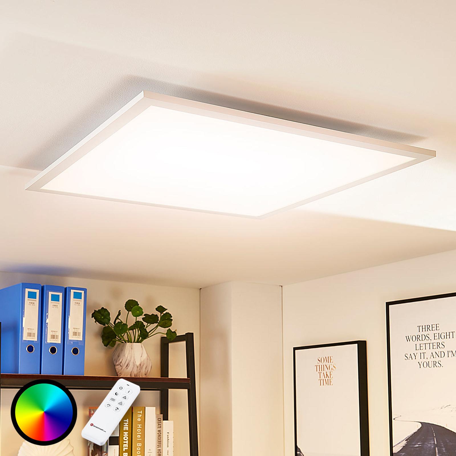 Arcchio Tinus -LED-paneeli, RGB, 62 cm x 62 cm