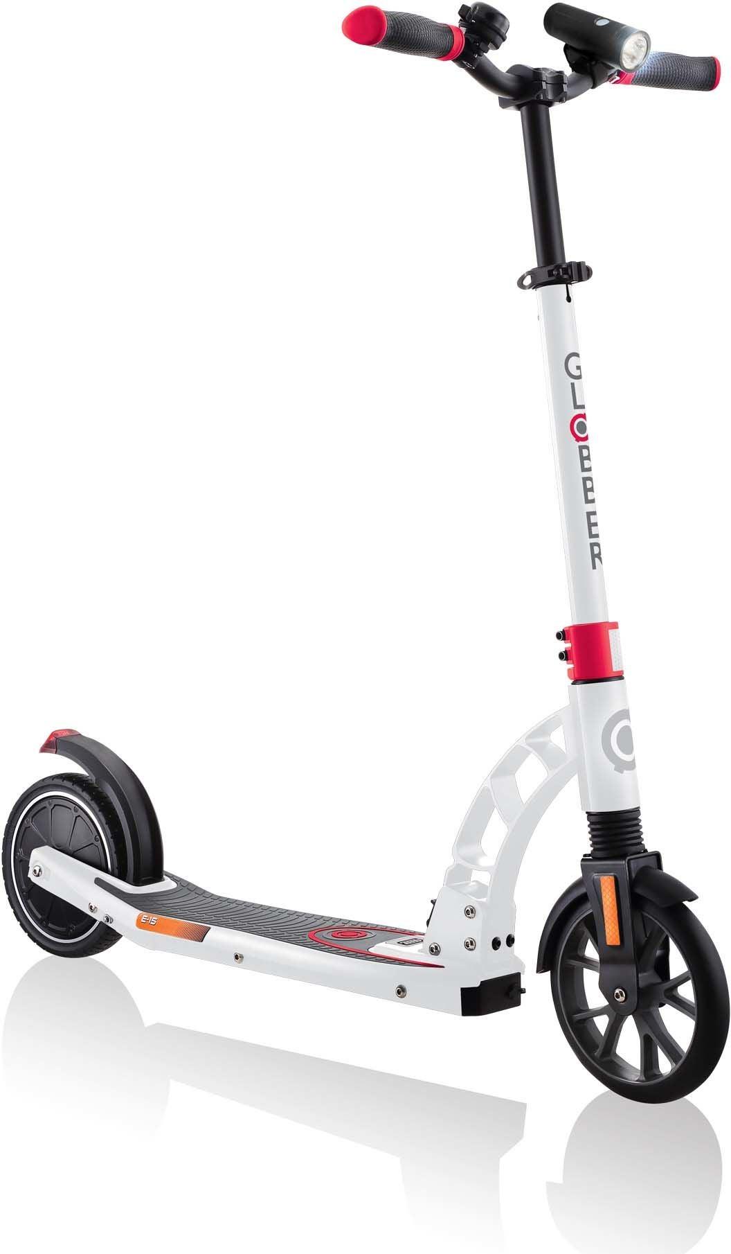Globber E.Motion Elektrisk Sparkcykel, Vit/Röd