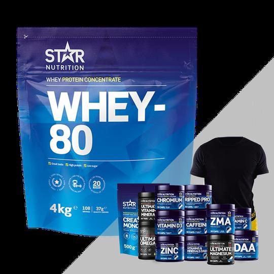 Whey-80, 4 kg + Bonus Product!