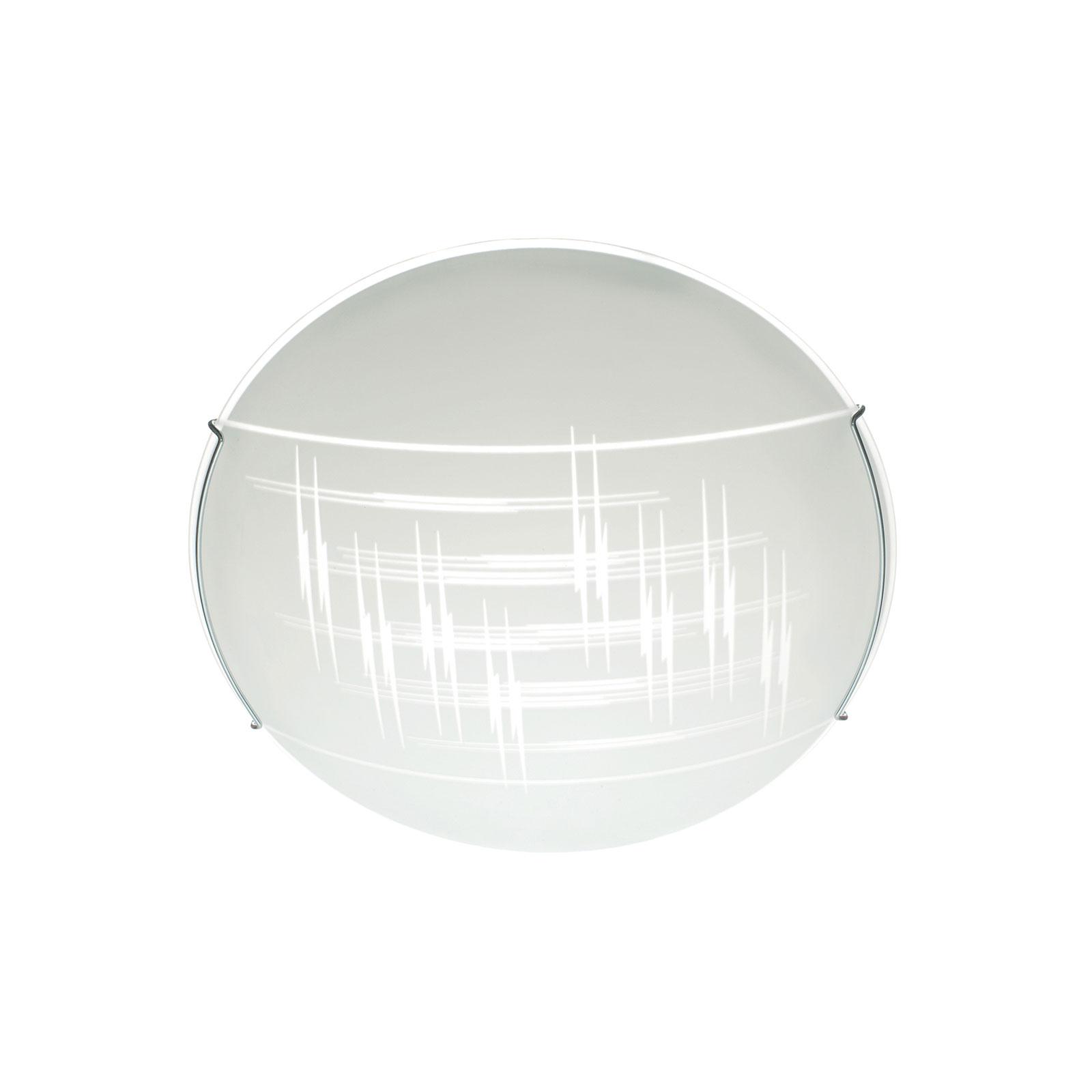 Kattovalaisin Scratch lasista, Ø 30 cm