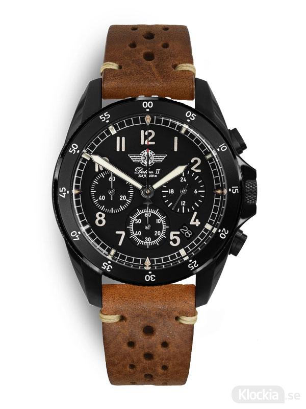 MALM Dalton 2 Black Chronograph 41 Brown Race MW-DAIIDLC39SWAF-LTD-BR - Herrklocka