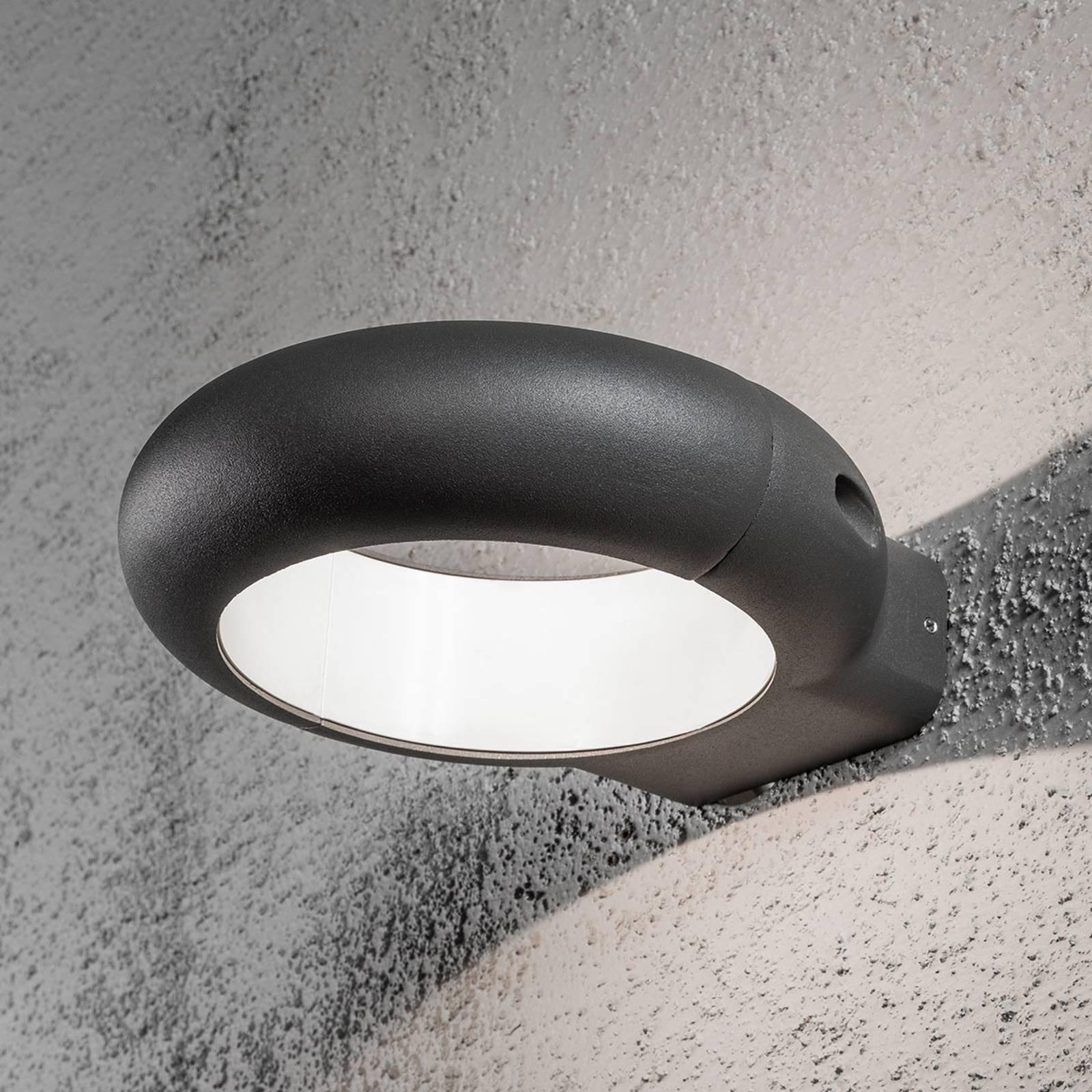 Rovigo ringformet utendørs LED-vegglampe
