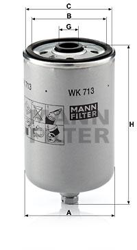 Polttoainesuodatin MANN-FILTER WK 713