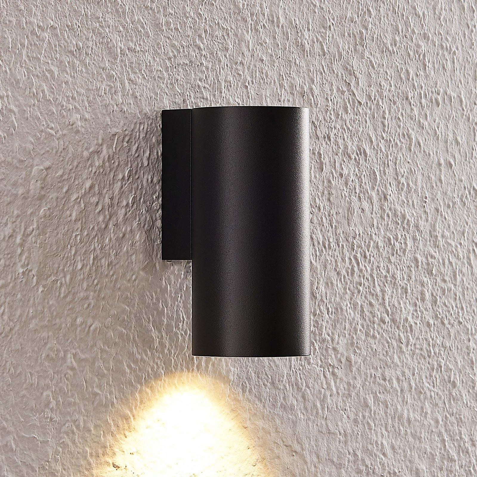 Arcchio Dilana vegglampe, rund, 1 lyskilde, svart