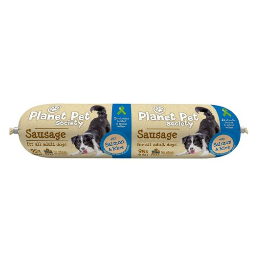 Planet Pet Society Sausage with Salmon & Rice 800 g