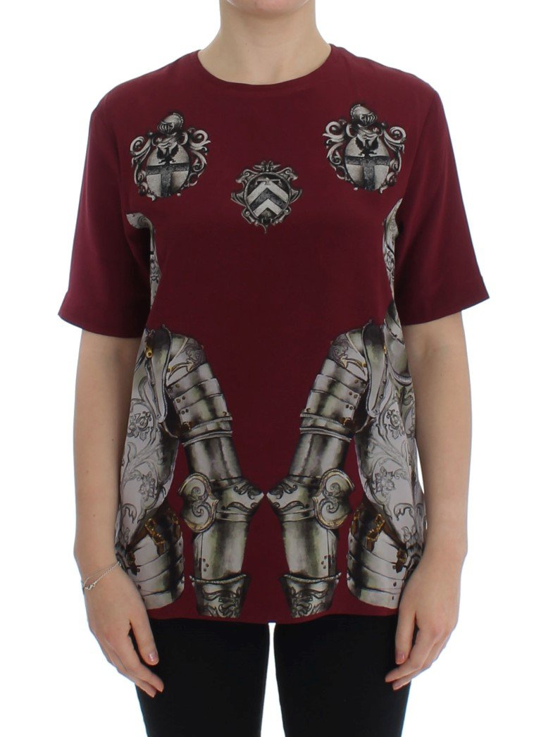 Dolce & Gabbana Women's Knight Silk Top Red SIG13332 - IT42 M