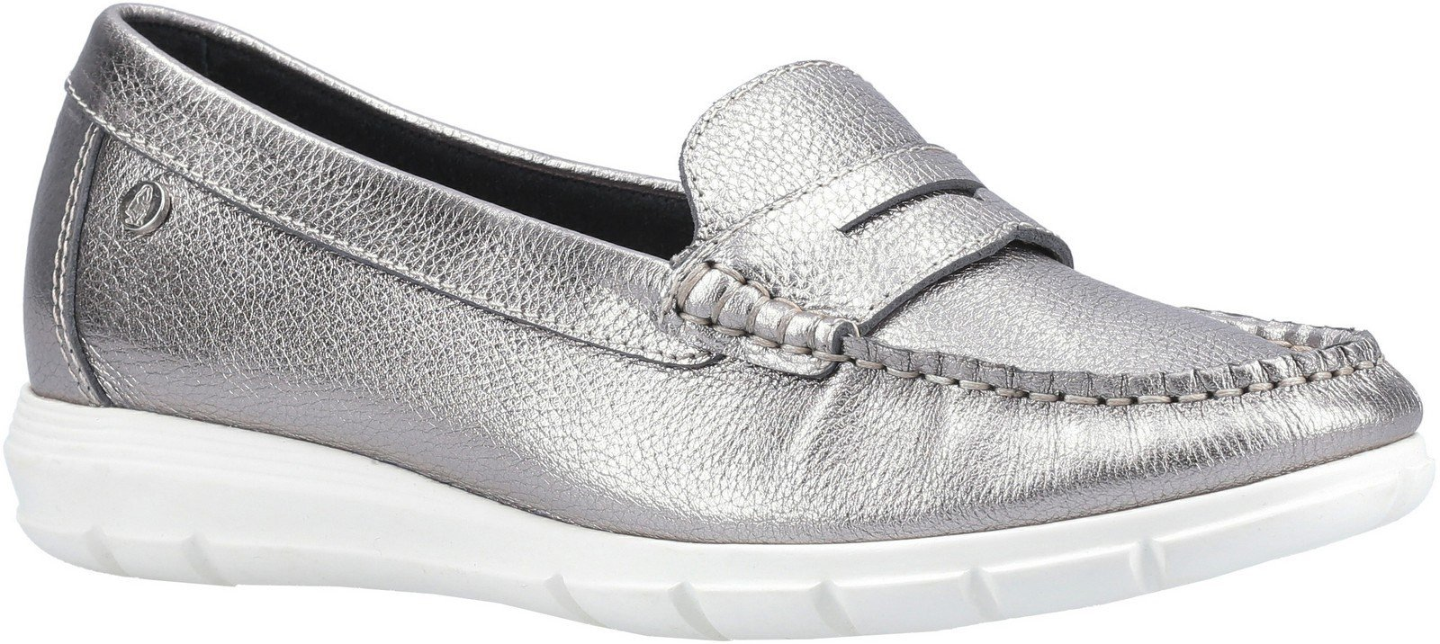 Hush Puppies Women's Paige Slip On Loafer Various Colours 30242 - Silver 3