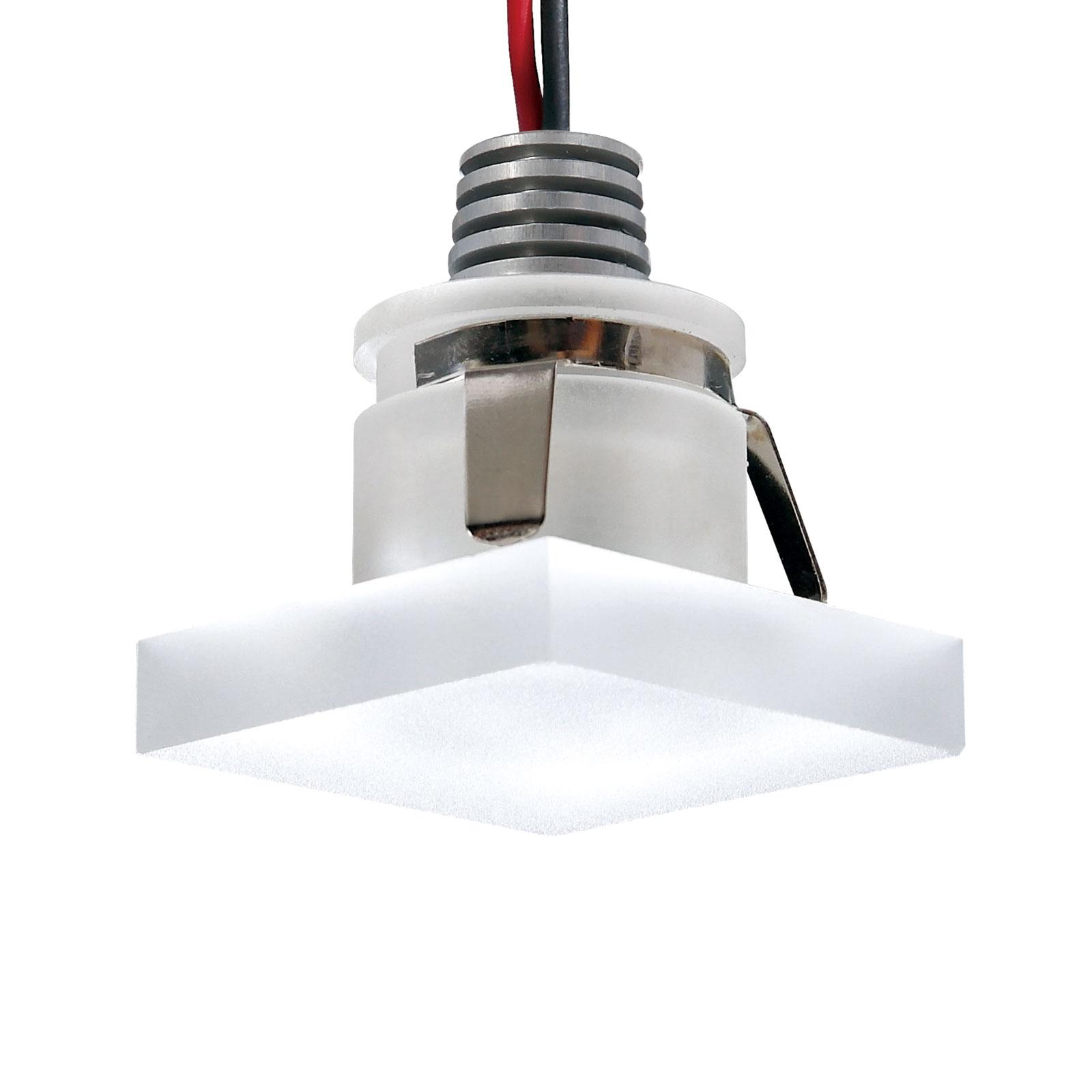 LED-uppokohdevalaisin Cristalin, kulmikas, IP44