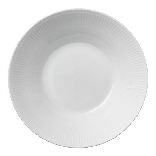 Royal Copenhagen - White Fluted Tallrik djup 24 cm
