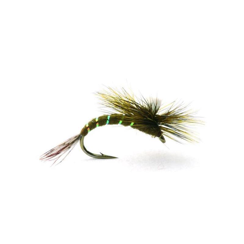 Baetis Klekker Dark Olive #14 Kjøp 12 fluer få gratis flueboks