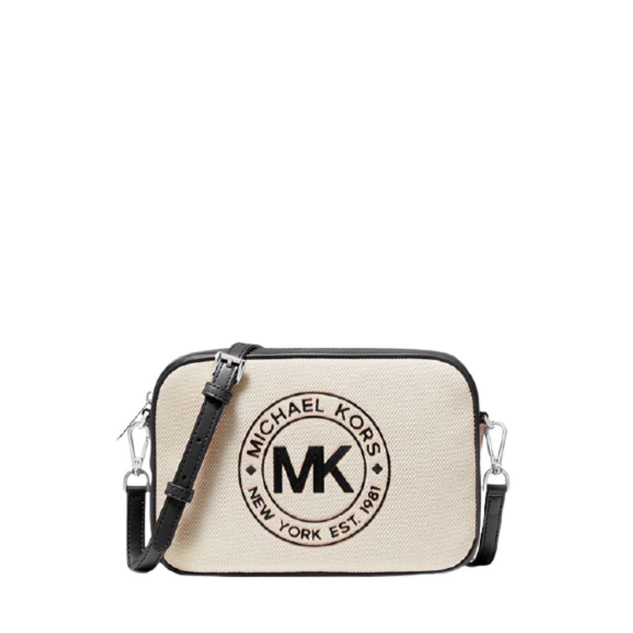 Michael Kors Women's Fulton Sport Large East West Crossbody Bag White MK27568