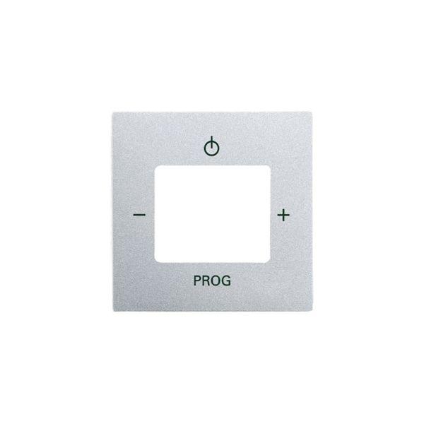 ABB Impressivo Midtplate for digitalradio Aluminium