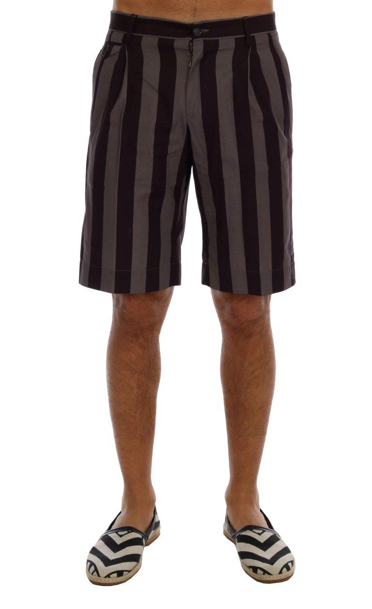 Dolce & Gabbana Men's Striped Cotton Shorts Multicolor PAN60758 - IT44 | XS