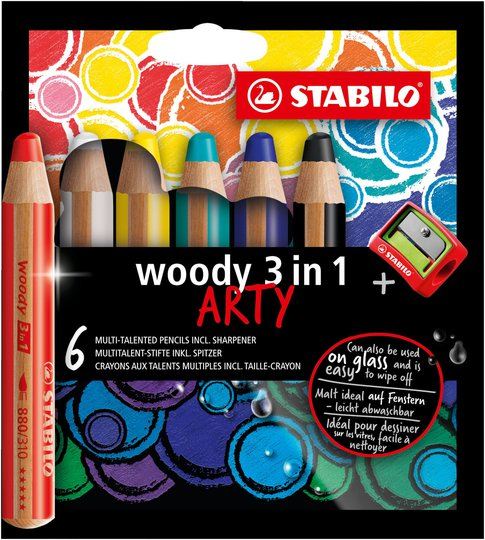 STABILO 3-i-1 Blyanter 6-pack Med Blyantspisser