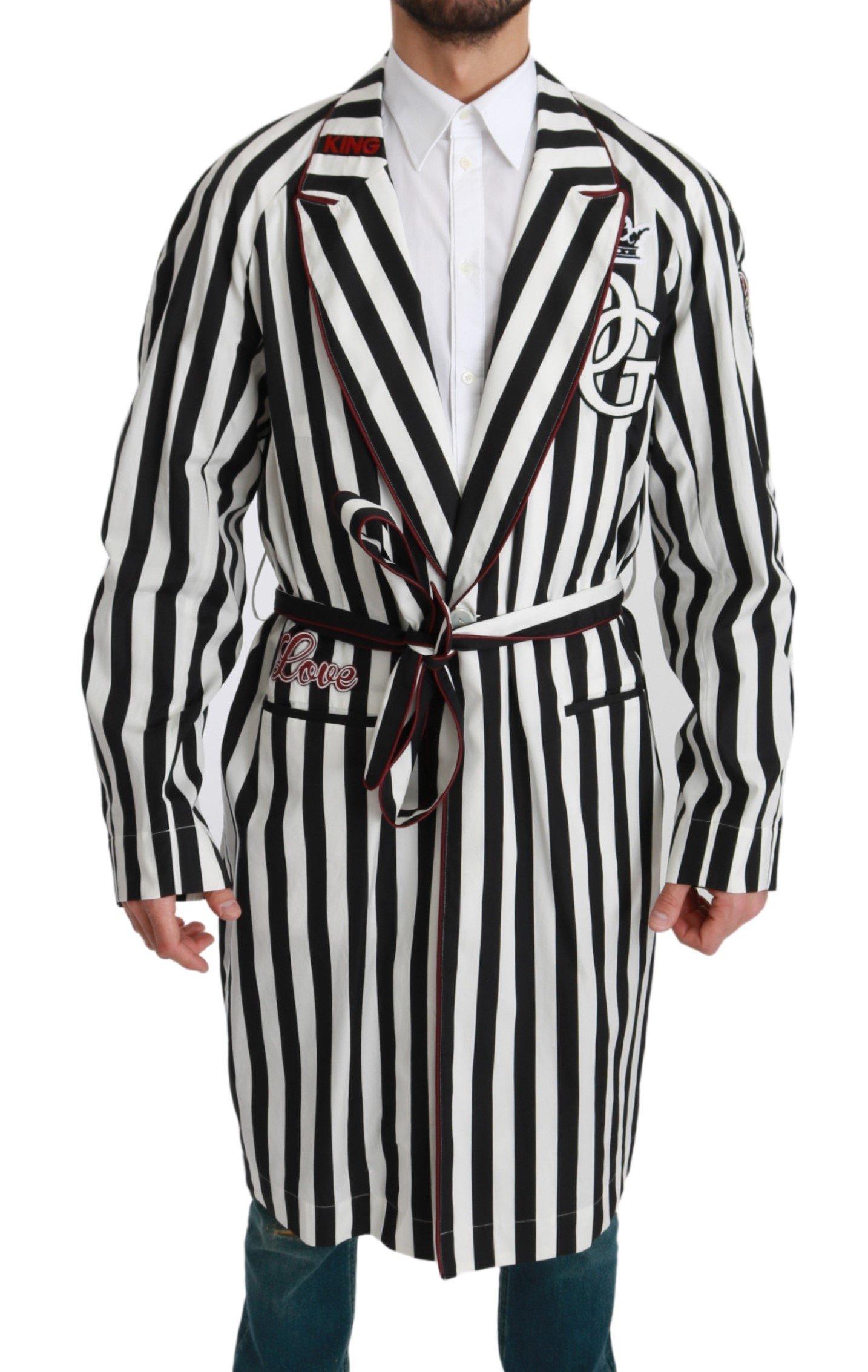 Dolce & Gabbana Men's Cotton Robe Nightgown Multicolor JKT2613 - IT46 | S