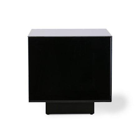 Mirror Block Table Black M