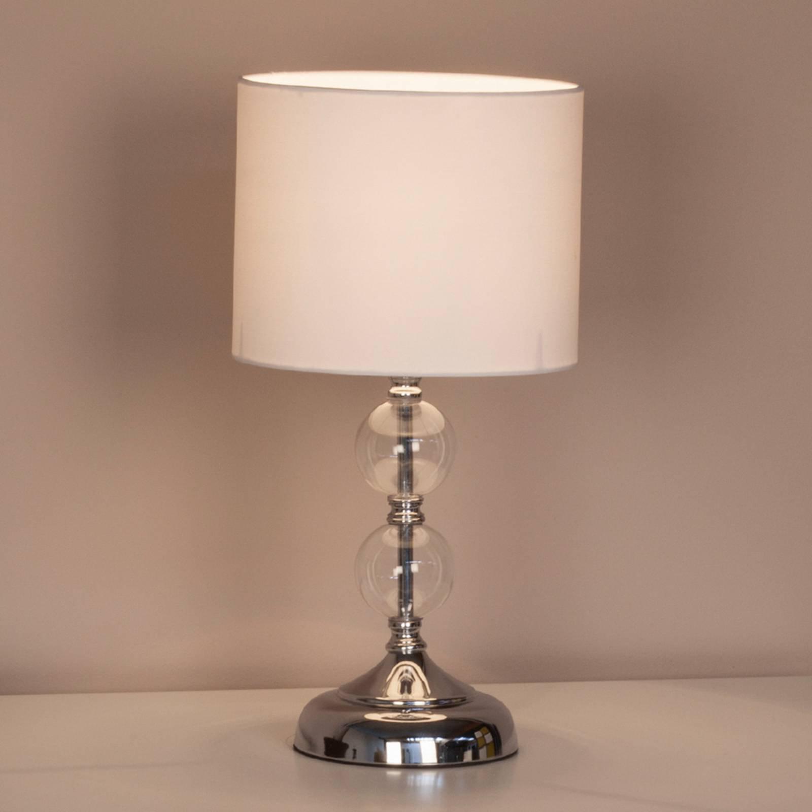 Dekorativ bordlampe Rom med tekstilskjerm