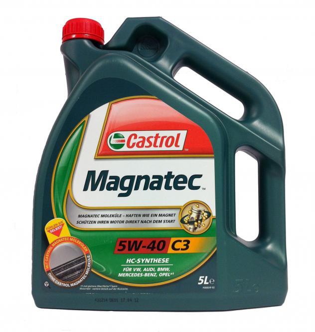 Moottoriöljy CASTROL 5W40 MAGNATEC C3 5L