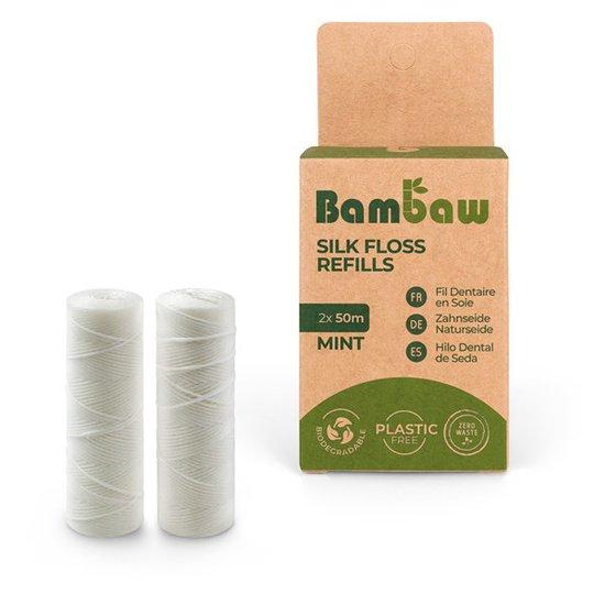 Bambaw Tandtråd Mullbärssilke Refill - Mintsmak, 2 x 50 m