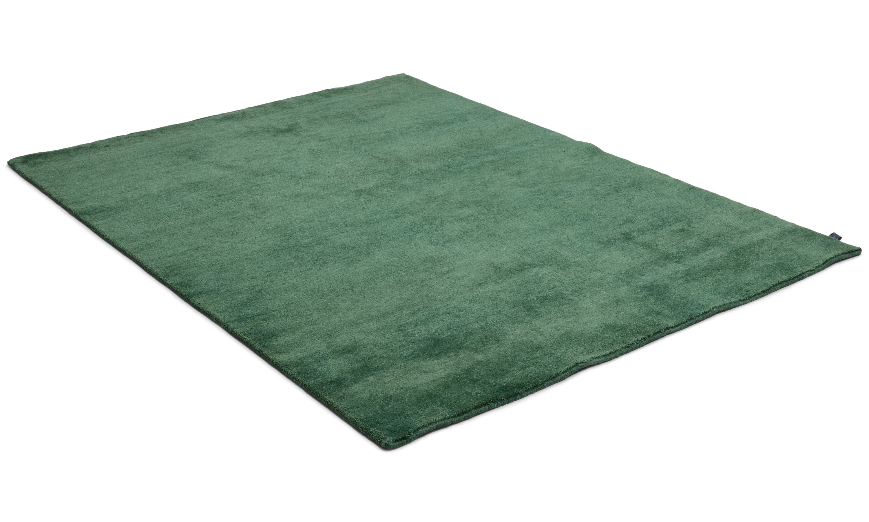 Nepali dark green - håndknyttet teppe