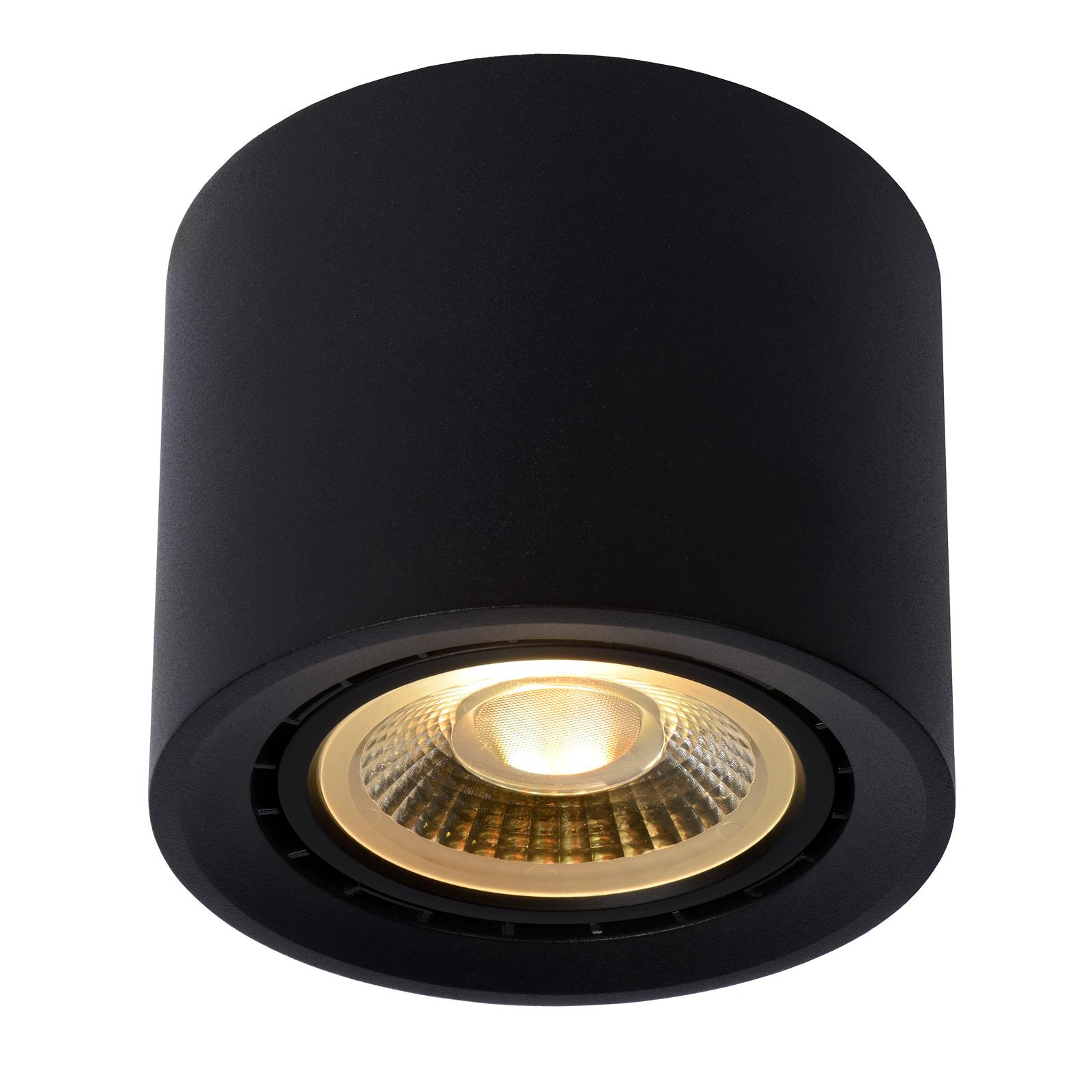 LED-kattovalaisin Fedler dim to warm, musta