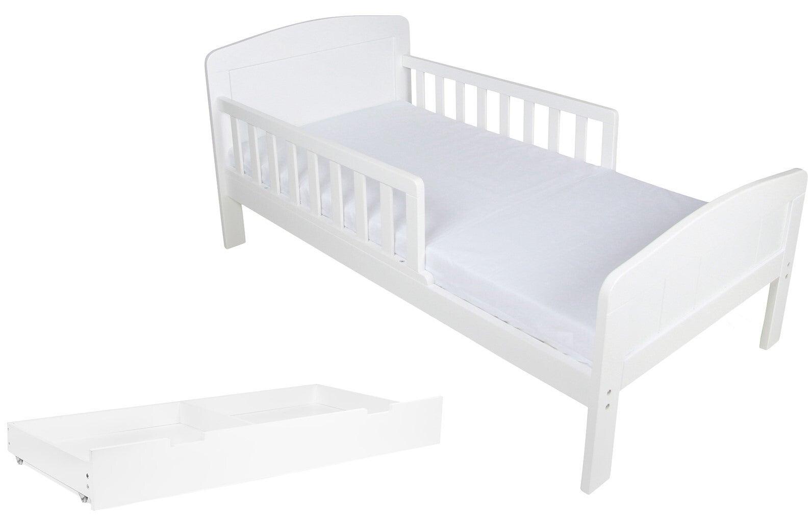 JLY Dream Juniorisänky 70x140 + Patja ja Sängynaluslaatikko, Valkoinen